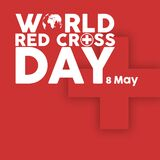 World red cross day vector image