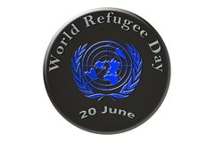 The international celebration of the United Nations, World Refug. World Refugee Day, the international holiday of the United Nations, is celebrated on 20 June Stock Photography