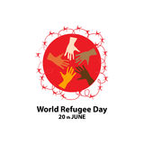 World refugee day on june 20th. Concept Royalty Free Stock Images