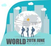 World Refugee Day. stock illustration