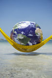 World Relaxing Tropical Beach Hammock Royalty Free Stock Photos