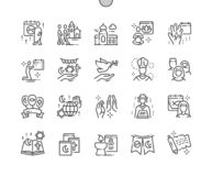 World Religion Day Well-crafted Pixel Perfect Vector Thin Line Icons 30 2x Grid for Web Graphics and Apps. vector illustration