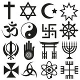 World religions symbols vector set of icons  eps10 Stock Images