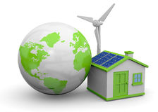 World and Renewable Energies - 3D Stock Photography