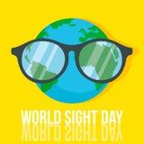 World retina day concept background, flat style vector illustration