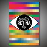 World retina day. September 28 - world retina day. Vertical poster template. Editable vector illustration in bright colors. Medical and healthcare concept in vector illustration