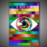 World retina day. September 28 - world retina day. Vertical poster template. Editable vector illustration in bright colors. Medical and healthcare concept in royalty free illustration