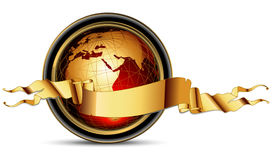 World with ribbon Royalty Free Stock Photography