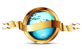 World with ribbon Royalty Free Stock Photos