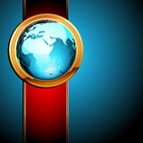 World with ribbon Stock Images
