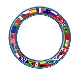World Ring Of Global Flags Frame stock illustration