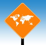 World Road sign Stock Image