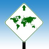 World road sign Stock Photos