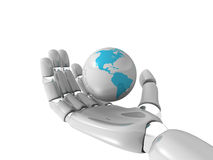 World in robohand Royalty Free Stock Images