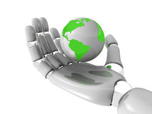 World in robohand Stock Photo