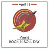 World Rock-n-Roll Day, April 13 Royalty Free Stock Images
