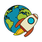 World rocket spaceship image. Illustration eps 10 Royalty Free Stock Image