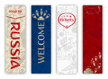 World of Russia - vertical banners set, vector templates Stock Photo