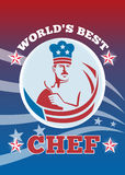 Worlds Best American Chef Greeting Card Poster Stock Photos