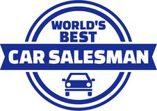 World`s best car Salesman button Stock Images