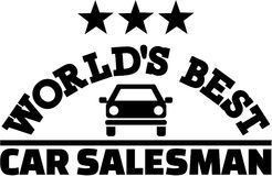 World's best car salesman. Vector Royalty Free Stock Images