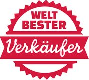World`s best clerk - german Royalty Free Stock Images