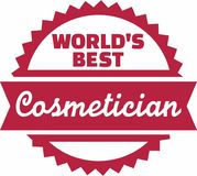 World's Best Cosmetician. Occupation vector Stock Photography