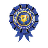 World`s best dad ever - printable award ribbon Royalty Free Stock Images