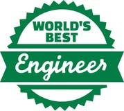 World's best Engineer emblem. Vector Stock Image