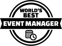 World's best event manager. Vector Royalty Free Stock Photos
