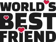 World`s best friend lettering. Vector Stock Image