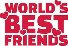 World`s best friend text with hearts Royalty Free Stock Images