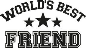 World`s best friend text. Vector Stock Photos