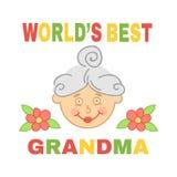 World`s best grandma. Stock Images