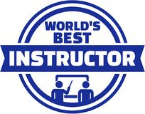 World's best Instructor button. Vector Royalty Free Stock Photography