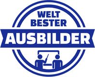 World`s best Instructor. German button. Stock Images