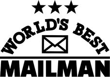 World's best Mailman. Occupation vector Royalty Free Stock Photo