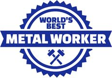World`s best Metal worker button Royalty Free Stock Photography