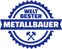 World`s best Metal worker german button Royalty Free Stock Images