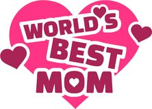 World`s best Mom Hearts. Vector stock illustration