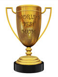 World's best mum trophy. World's best mum golden trophy on the white background Stock Images
