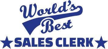World's best Sale clerk. Vector Royalty Free Stock Image