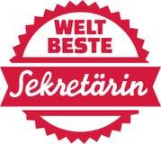 World's best Secretary german. Vector Royalty Free Stock Photo