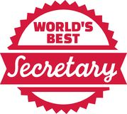 World's best Secretary stamp. Vector Royalty Free Stock Photography