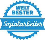 World`s best Social Worker german Royalty Free Stock Photo