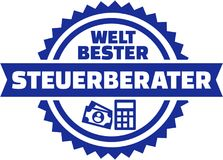 World`s best Tax consultant german button Stock Photos