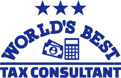 World's best tax consultant. Vector Royalty Free Stock Photos