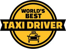 World`s best Taxi driver button. Vector Stock Photo