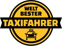 World`s best Taxi driver german button. Vector Stock Image
