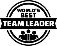 World`s best Team Leader button Royalty Free Stock Images